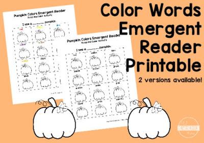 color words emergent reader
