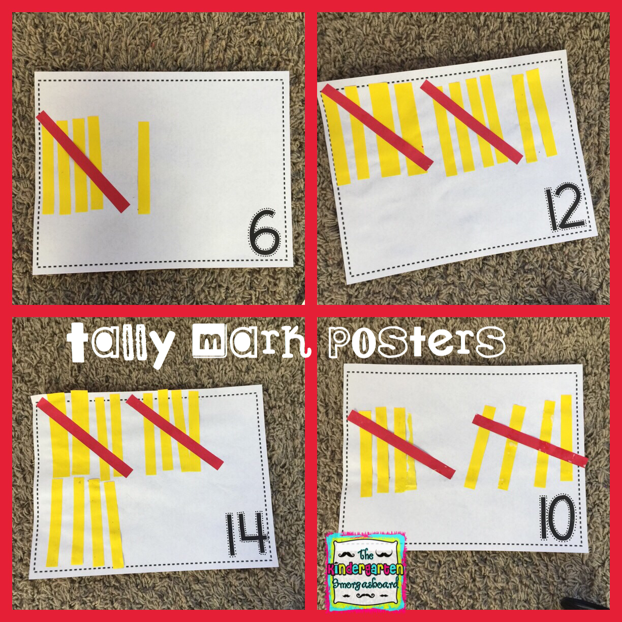 A Kindergarten Smorgasboard Of Tally Marks