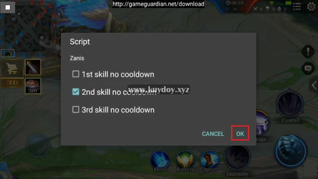 Script No Cooldown All Hero Arena of Valor (AOV) Terbaru