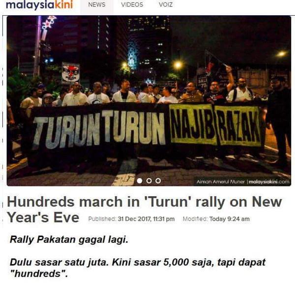 Tahun Tergagal Untuk Rally Pakatan