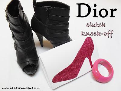 dior shoe clutch knock-off