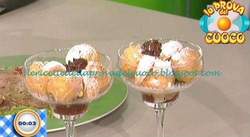 Bignè alla crema con cioccolato agli agrumi ricetta Salvatori da Prova del Cuoco