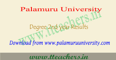 Palamuru university degree 3rd sem results 2018, pu 2nd year result