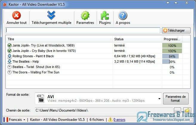 Kastor all video downloader un logiciel gratuit pour - Telecharger open office gratuit pour windows xp ...