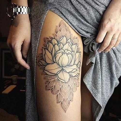 kadın üst bacak dövmeleri woman upper leg tattoos