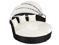 Logo Like & Win: vinci gratis 1 divano prendisole in alluminio e rattan