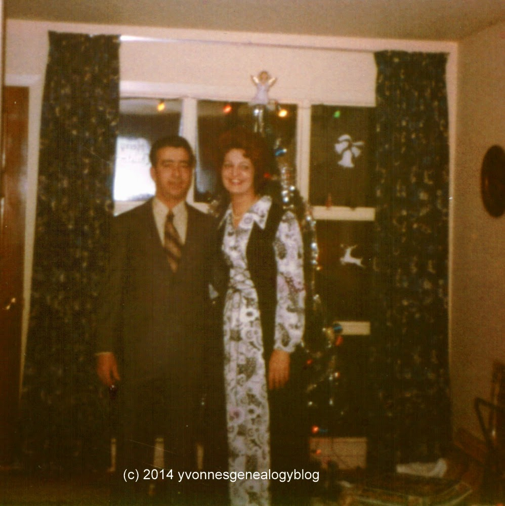 Maurice and Jacqueline Belair on New Year's Day 1973