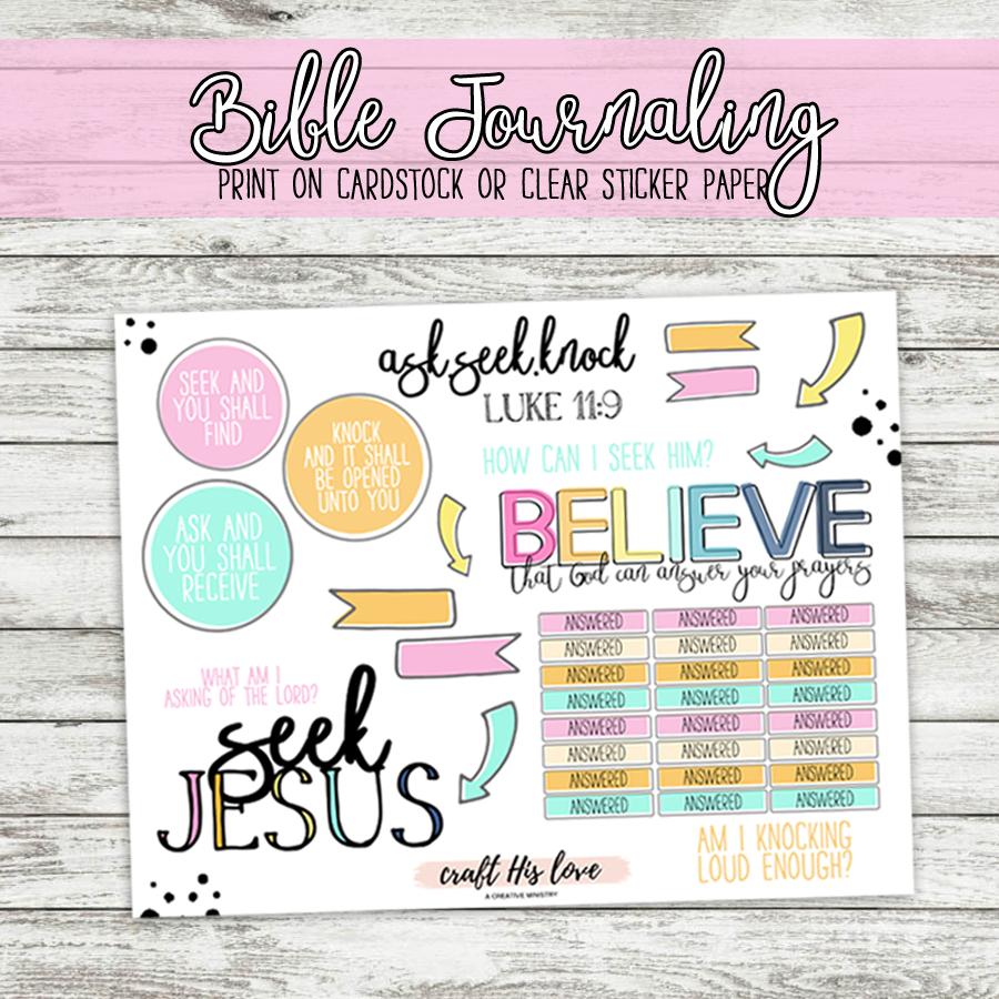 bible journaling luke 11 _ask seek knock_free printable