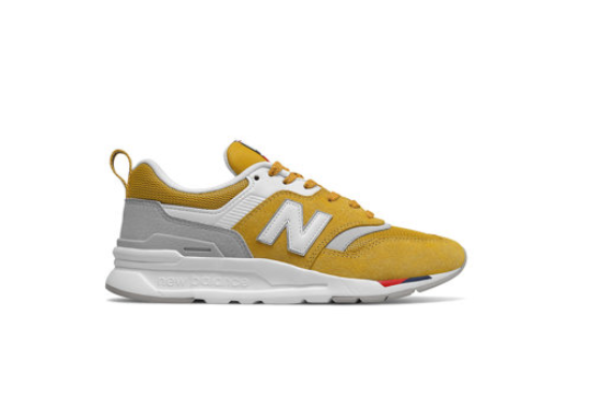 New Balance Pantofi sport dama galbeni cu insertii de piele intoarsa 997