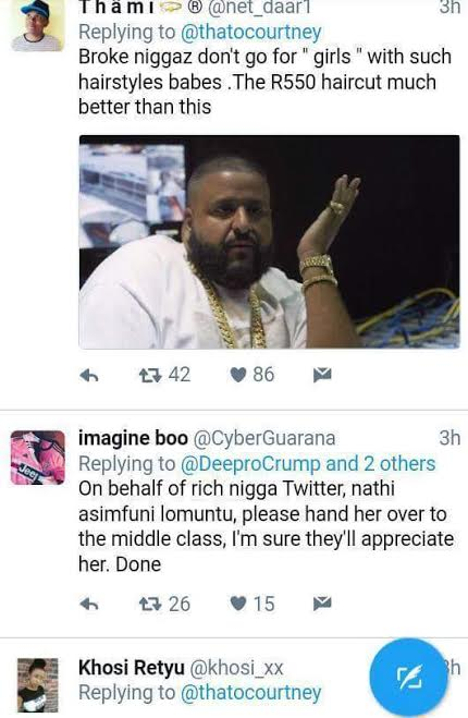 t - Savage! South African lady warns broke niggas not to like her photo and Twitter users dragged her
