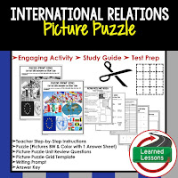 International Relations, Media, Civics Test Prep, Civics Test Review, Civics Study Guide, Civics Interactive Notebook Inserts, Civics Picture Puzzles