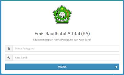 Alamat EMIS RA di emispendis.kemenag.go.id/emis_madrasah_ra