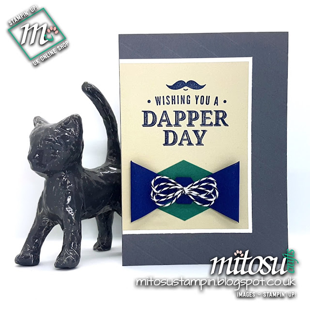 Stampin' Up! Truly Tailored SU Male Card Idea for Paper Craft Crew Card Sketch Challenge #PCC281 order craft from Mitosu Crafts UK Online Shop