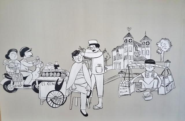 mural, hostel, the-packer-lodge, jakarta, kota