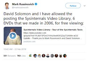 https://twitter.com/markrussinovich/status/1099016584708923404