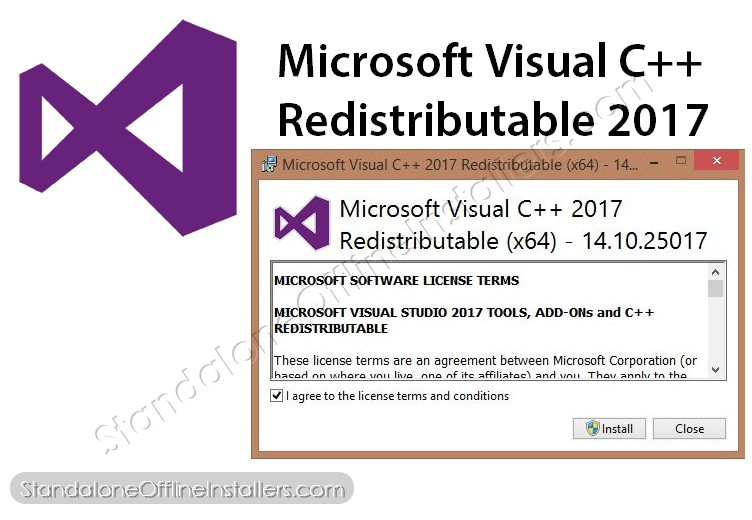 Microsoft Visual C++ Redistributable 2017 32-bit (x86) 64-bit (x64) Standalone Offline Installer for Windows | logo