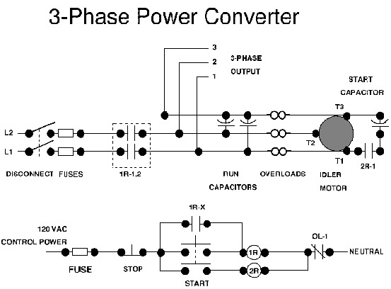 3 phase to single phase rotary converter