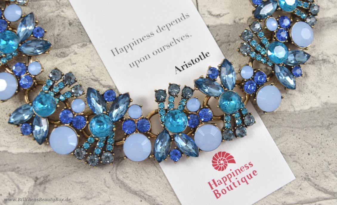 Happiness Boutique - Statement Kette Ozeanblau