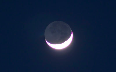 earthshine taken with canon rebel xt 300mm