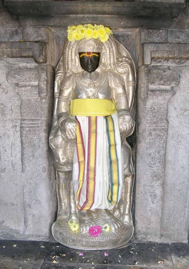 Lord Dakshinamurthy In Standing Posture With Silver Covering