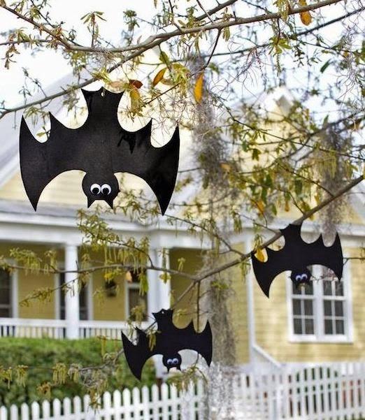 cmo hacer murcilagos halloween para decorar