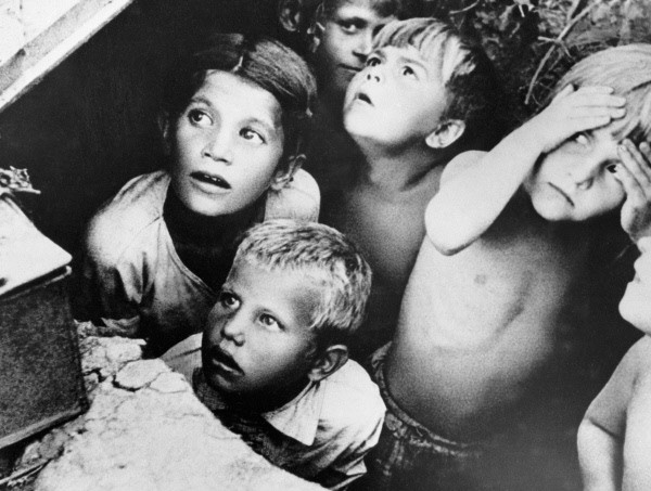 Children in a bomb shelter, Minsk, Byelorussia 24 June 1941 worldwartwo.filminspector.com