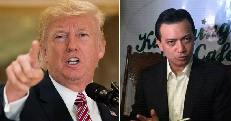 Donald Trump May Kasindak-sindak na Mensahe kay Trillanes