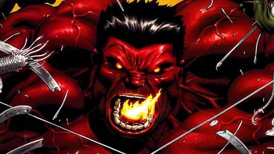 red hulk karakter terkuat marvel yang sulit dibuatkan film oleh mcu