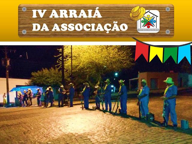 IV ARRAIÁ DA ASSOCIAÇÃO, abertura com grupo de bacamarteiros de Lagoa dos Gatos - PE