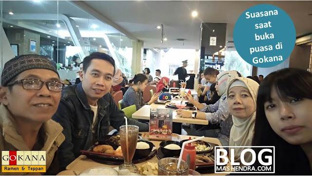 Suasana Saat Buka Puasa di Restoran Gokana, Cinere Mall - Blog Mas Hendra