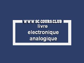 livre electronique analogique smp s5 pdf pour les etudiants faculté des sciences smp par cours science exerice examens tp td pdf gratuit,