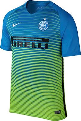 16-17 Inter Milan Third Away Blue Soccer Jersey Shirt