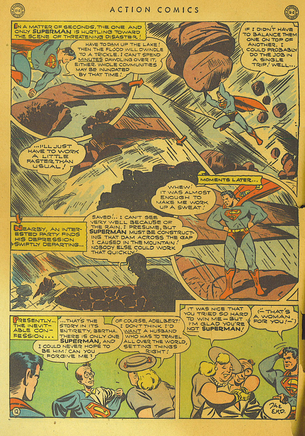 Read online Action Comics (1938) comic -  Issue #74 - 14