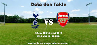 Data dan Fakat Fantasy Premier League GW 27 Tottenham Hotspur vs Arsenal Fantasi Manager Indonesia