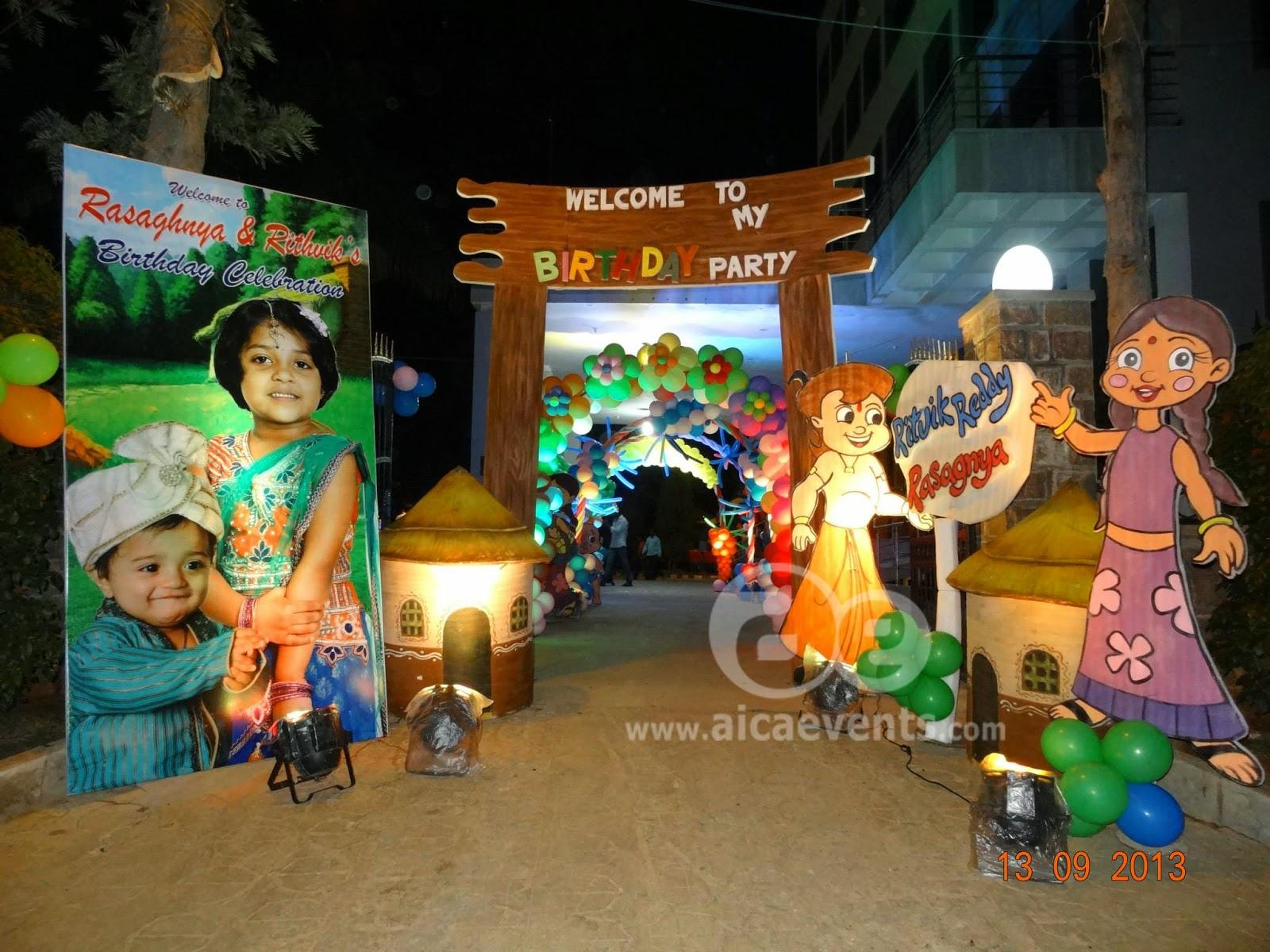 Aicaevents India Chhota Bheem Theme Party Decorations