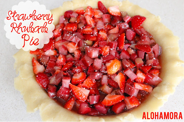 Homemade Strawberry Rhubarb Pie.  Easy from scratch pie recipe.  Easy to make, but absolutely delicious and one of the most popular, a definite favorite, pie flavor.  Alohamora Open a Book http://alohamoraopenabook.blogspot.com/ dessert recipe