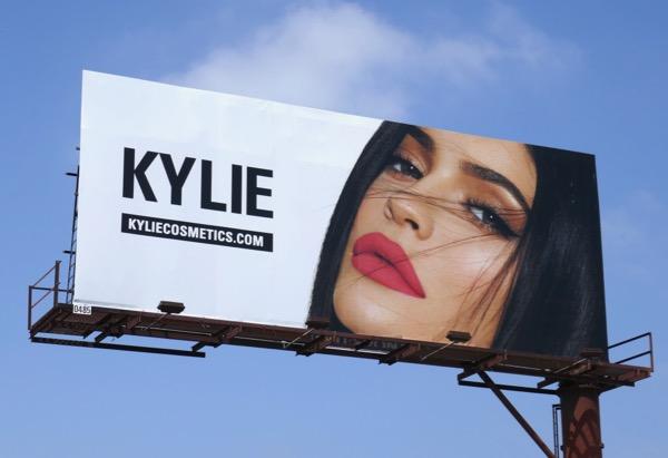 Kylie Jenner Cosmetics Summer 2018 billboard