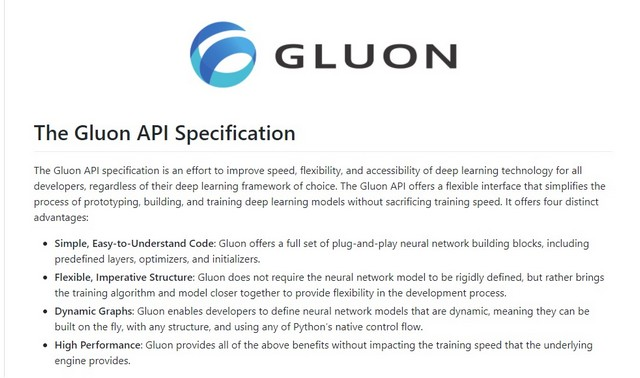 gluon logo with api specification