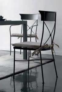 silla de forja con cojin