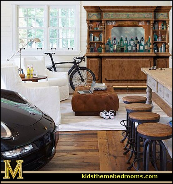 man cave decorating ideas - man cave decorating pictures - man cave decor - home bar decor - wine decor - beer decor - sports bar decor - big boys bedrooms - Wine Barrel furniture - man cave decorations - personalized man cave decor