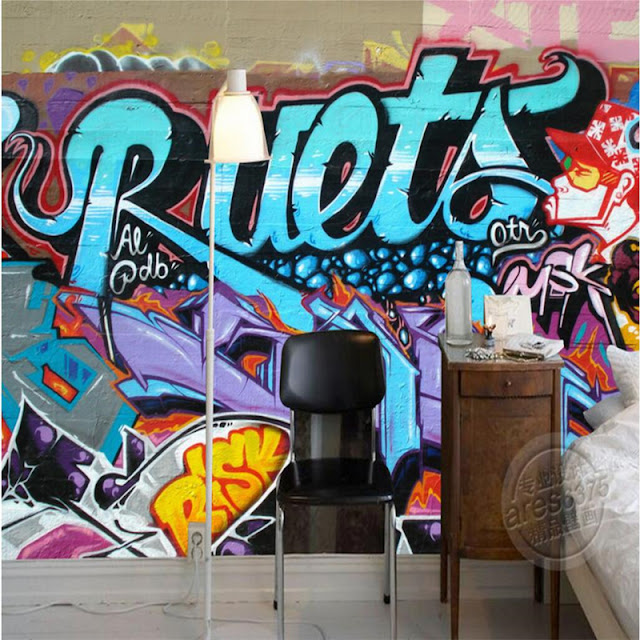 Graffiti Wall Murals Youth Room Bedroom