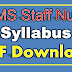 AIIMS Staff Nurse Syllabus PDF Download Staff Nurse Grade I and II Syllabus Apply Online