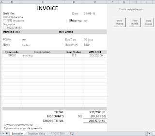Invoice Generate Database Create Form Excel  Invoice Generator Software