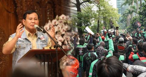 Kelompok Tukang Ojek Tuntut Permintaan Maaf Prabowo