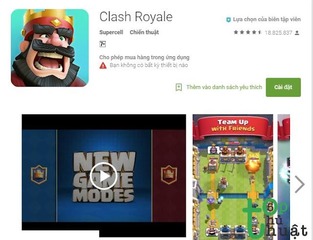 Ứng dụng Clash Royale