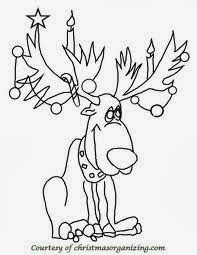 Christmas Reindeer Coloring Pages 4