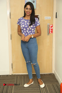 Nithya Stills in Ripped Jeans at Ila Nee Jathaga Trailer Launch at Radio City