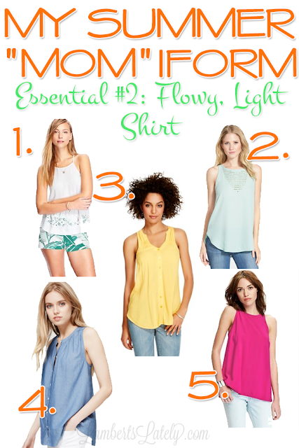 Great summer fashion staples for a mom!