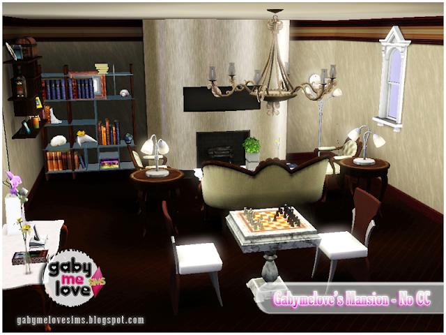 Gabymelove's Mansion |NO CC| ~ Lote Residencial, Sims 3. Sala de estar.