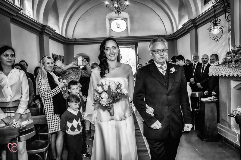 Matrimonio al santuario della Madonna di Celle, entrata della sposa